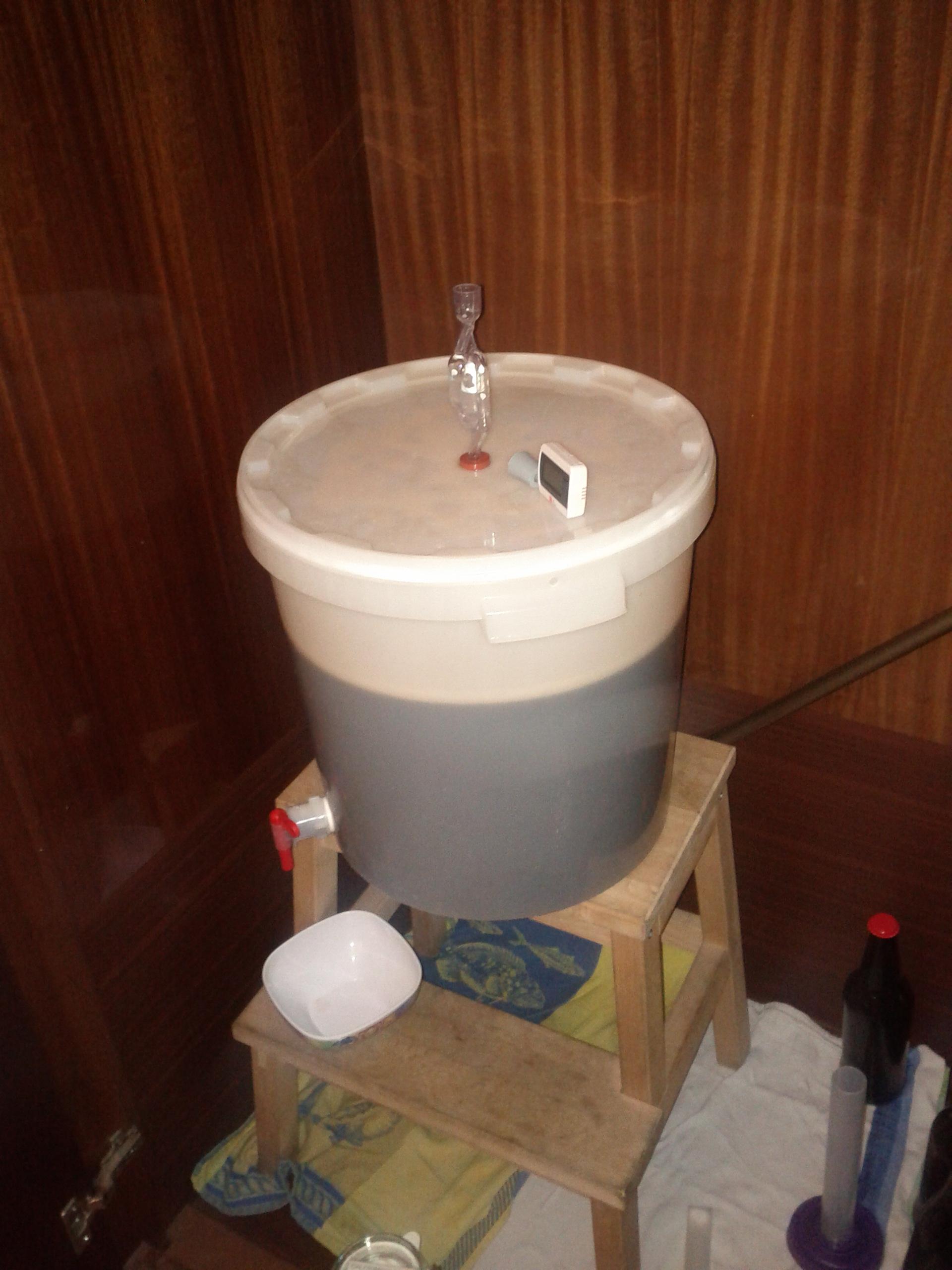 I nostri 20 Lt di Porter nel fermentatore
