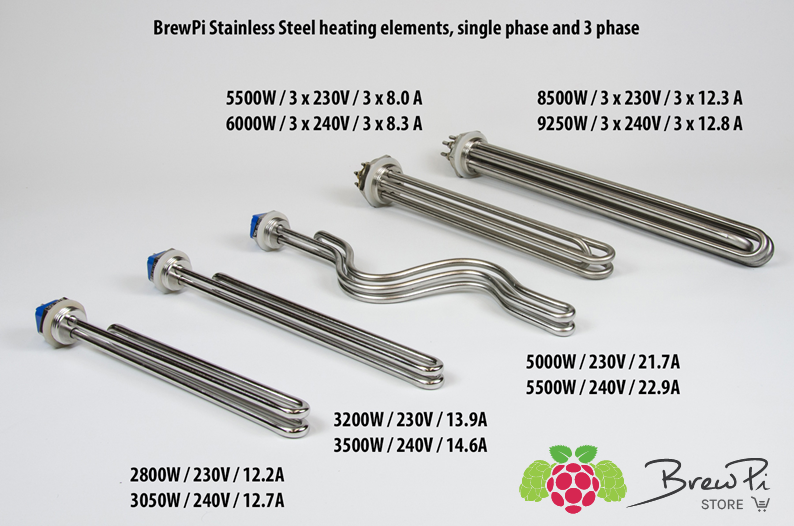 Brewpi heating elements